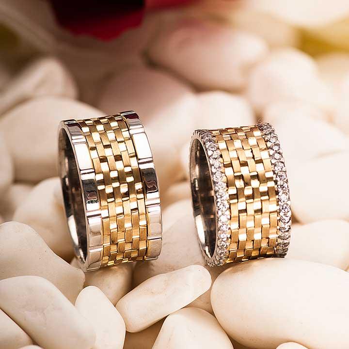 Mivara Altın Kaplama Gümüş Alyans Modeli