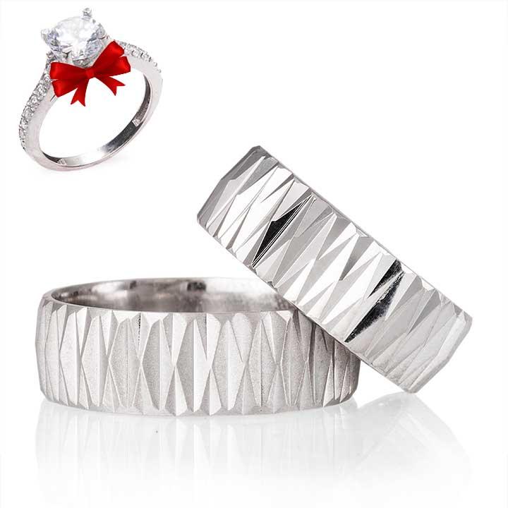 Begonvil Gümüş Alyans Modeli Söz Yüzüğü