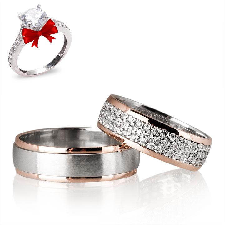 Kemeraltı Gümüş Alyans Modeli Alyans Çifti
