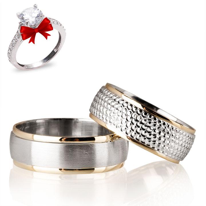 Konak Gümüş Alyans Modeli Alyans Çifti