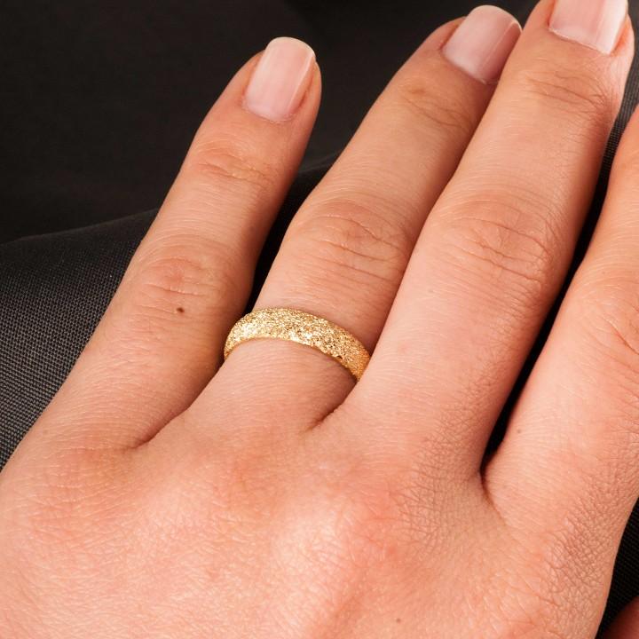 Altın Kaplama Gümüş Alyans Modeli Çift Alyans Nişan ve Söz Yüzüğü