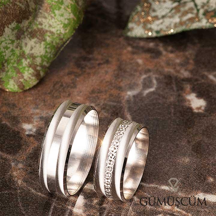 Zakkum Gümüş Alyans Modeli Nişan Yüzüğü