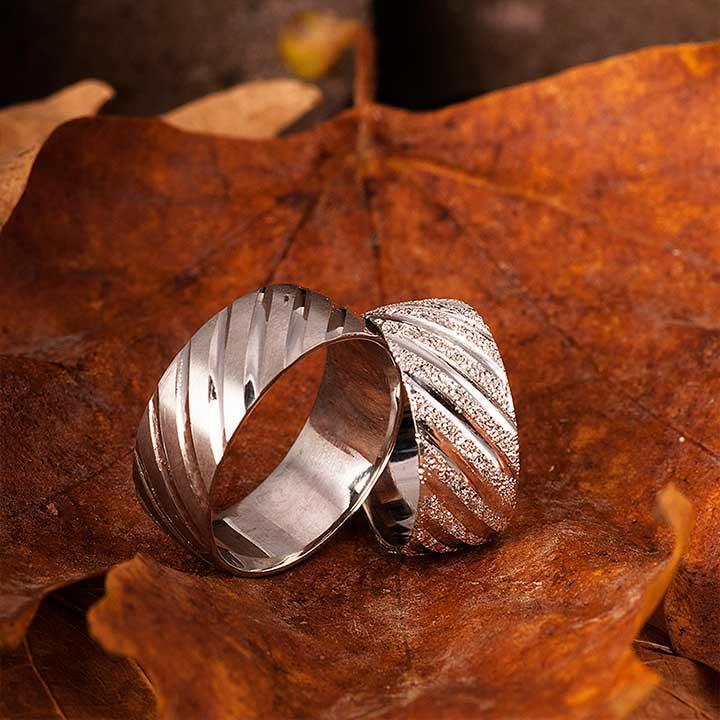 Venüs Nişan Yüzüğü Gümüş Alyans Çifti