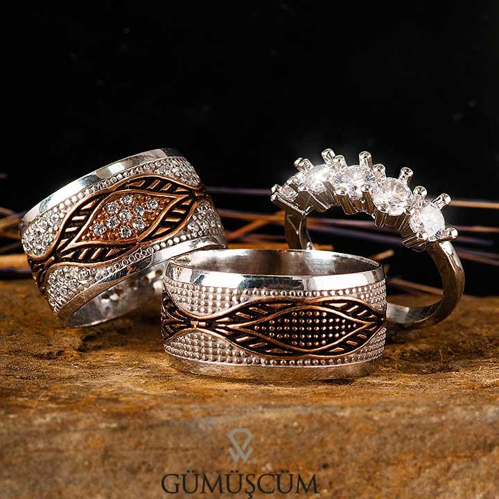 Kybele Modeli Gümüş Alyans