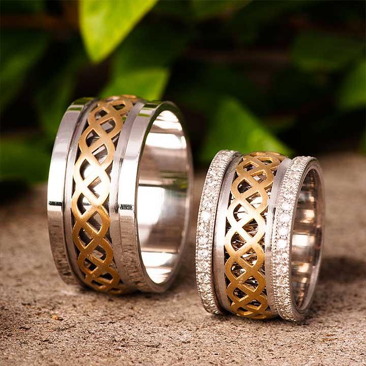 Rüzgar Gümüş Alyans Modeli Çift Alyans