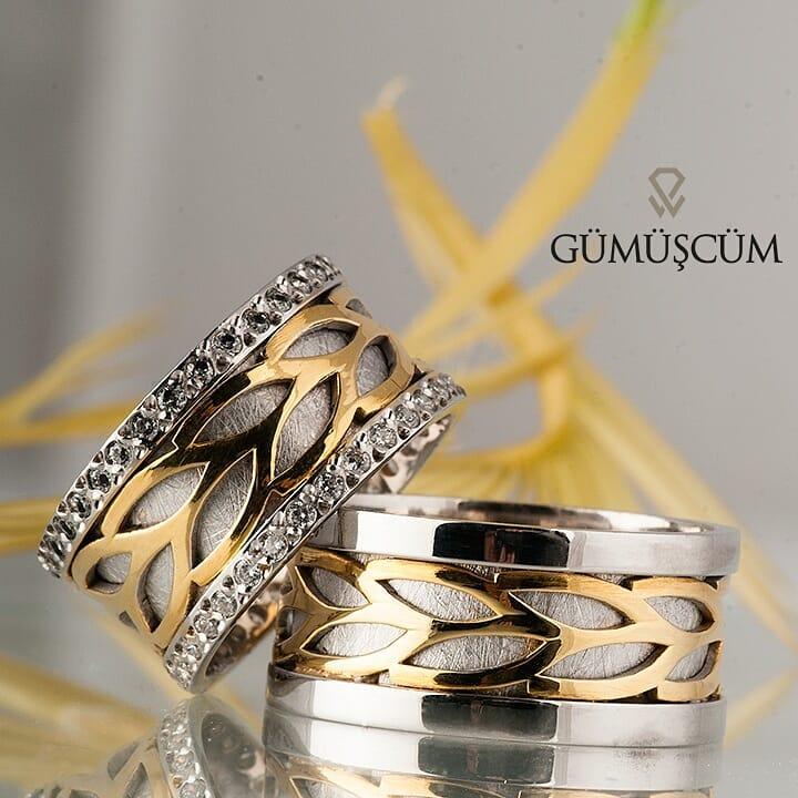 Su Damlası Modeli Gümüş Alyans Çifti