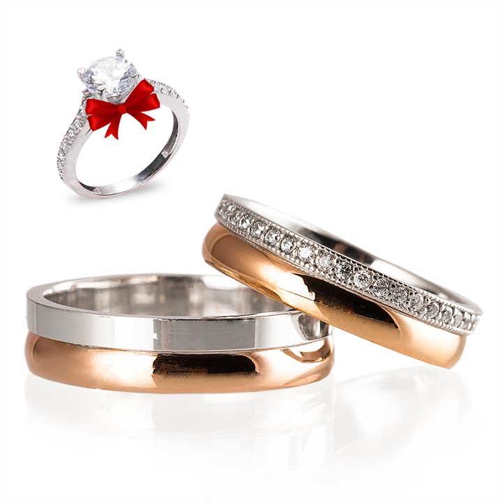 Kurdele Gümüş Alyans Modeli İnce Alyans Çifti