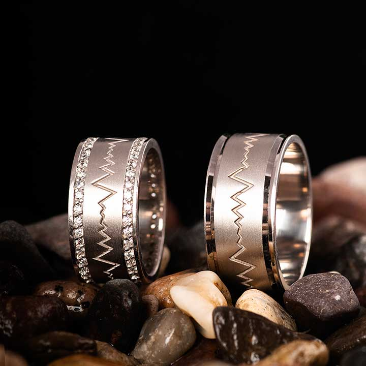 Ritim Gümüş Alyans Modeli Taşlı Alyans Çifti
