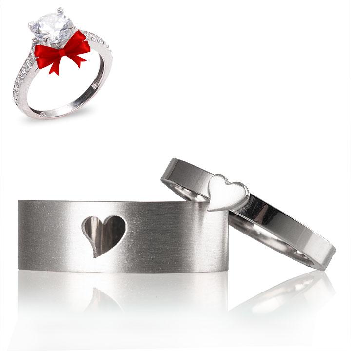 Kalpli Gümüş Alyans Modeli Alyans Çifti