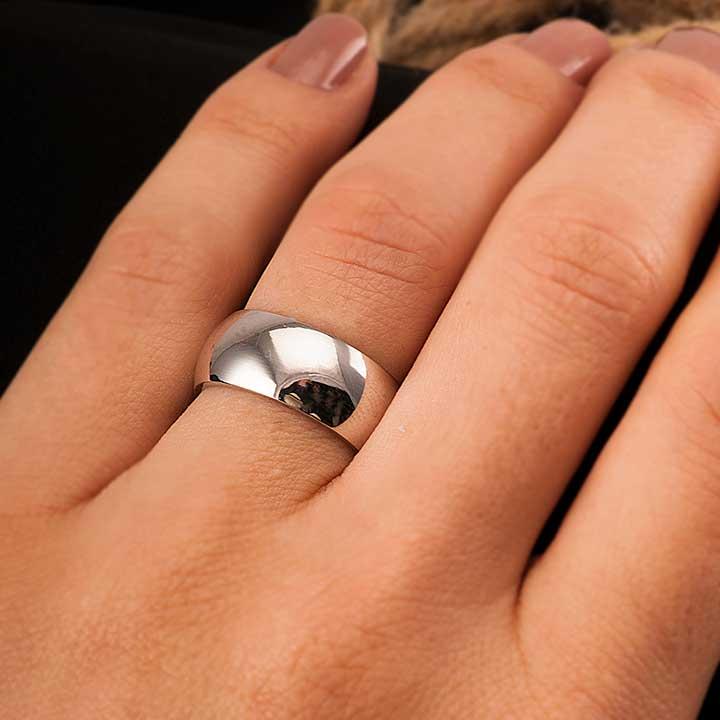 Bombeli 8mm Gümüş Alyans Çifti Nişan ve Söz Yüzüğü