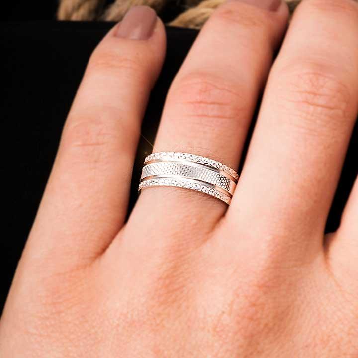 Zeus Modeli Gümüş Alyans Çifti Nişan Yüzüğü