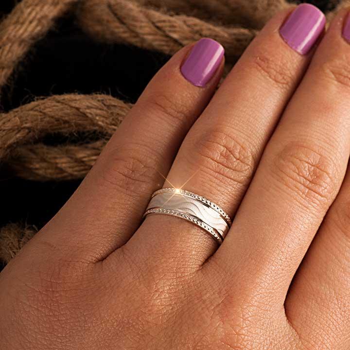 Bella Modeli Gümüş Alyans Çifti Nişan ve Söz Yüzüğü